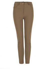 High waist stretch pants Romolo | green