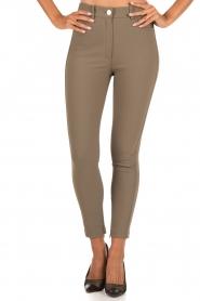 ELISABETTA FRANCHI | High waist stretchbroek Romolo | groen  | Afbeelding 2