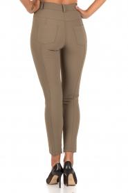 ELISABETTA FRANCHI | High waist stretchbroek Romolo | groen  | Afbeelding 5