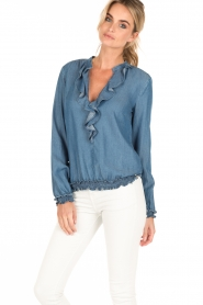 Patrizia Pepe | Blouse Camicia | blauw  | Afbeelding 4