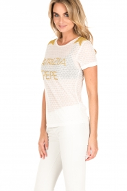 Patrizia Pepe | T-shirt Maglia | wit  | Afbeelding 4