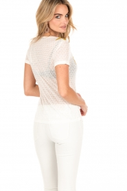 Patrizia Pepe | T-shirt Maglia | wit  | Afbeelding 5