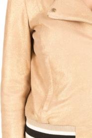 Patrizia Pepe | Leren jasje Luisa | nude  | Afbeelding 6