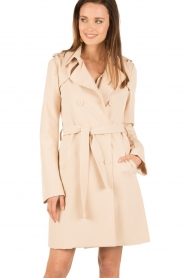 Patrizia Pepe | Double breasted trenchcoat Maria | nude  | Afbeelding 4