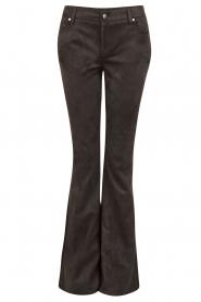 NIKKIE | Suéde look flare broek Leyla | zwart  | Afbeelding 1