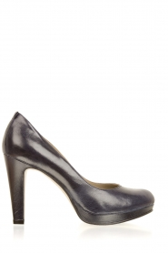 Noe |  Leather pumps Nabla | dark blue  | Picture 1