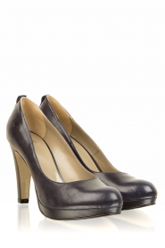 Noe |  Leather pumps Nabla | dark blue  | Picture 4