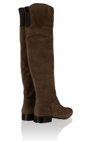 Maluo | Suede over-the-knee laarzen Isa | groen  | Afbeelding 4
