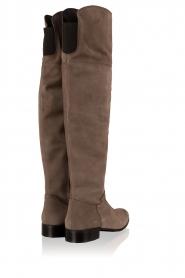Maluo   Suede over-the-knee laarzen Isa   grijs    Afbeelding 4