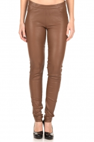 Dante 6 |  Leather leggings Tyson | brown  | Picture 3