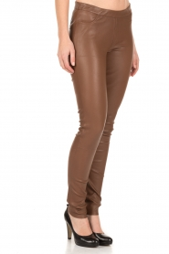Dante 6 |  Leather leggings Tyson | brown  | Picture 4