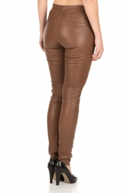 Dante 6 |  Leather leggings Tyson | brown  | Picture 5