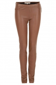 Dante 6 |  Leather leggings Tyson | brown  | Picture 1