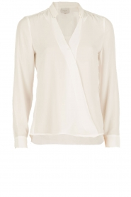 Dante 6 | Overslag blouse Mendo | wit  | Afbeelding 1