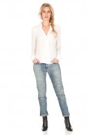 Dante 6 | Overslag blouse Mendo | wit  | Afbeelding 3