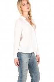 Dante 6 | Overslag blouse Mendo | wit  | Afbeelding 4