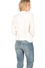 Dante 6 | Overslag blouse Mendo | wit  | Afbeelding 5