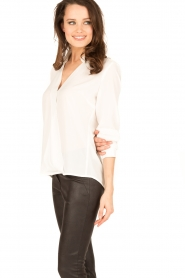 Dante 6 | Overslag blouse Mendo | wit  | Afbeelding 4