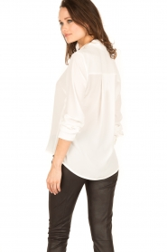 Dante 6 | Overslag blouse Mendo | wit  | Afbeelding 5
