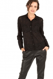 IKKS | Kanten blouse Indy | zwart  | Afbeelding 2