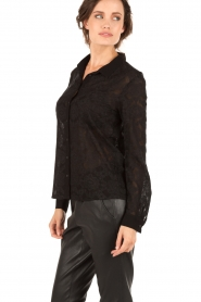IKKS | Kanten blouse Indy | zwart  | Afbeelding 4