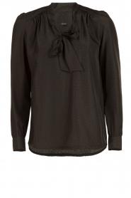 IKKS | Pussybow blouse Tess | zwart  | Afbeelding 1