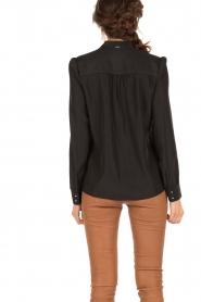 IKKS | Pussybow blouse Tess | zwart  | Afbeelding 4