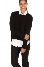 Aaiko | Gebreide trui Agata | zwart  | Afbeelding 2