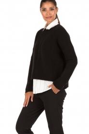 Aaiko | Gebreide trui Agata | zwart  | Afbeelding 4