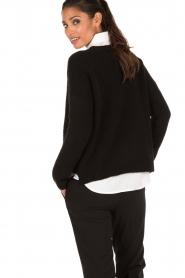 Aaiko | Gebreide trui Agata | zwart  | Afbeelding 5