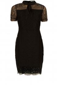 Aaiko | Kanten jurk Lacy | zwart  | Afbeelding 1
