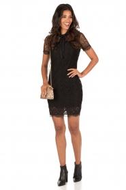 Aaiko | Kanten jurk Lacy | zwart  | Afbeelding 3