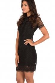 Aaiko | Kanten jurk Lacy | zwart  | Afbeelding 4