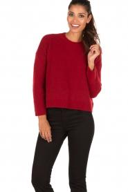 Aaiko | Gebreide trui Agata | rood  | Afbeelding 2