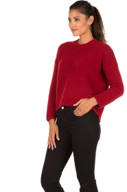 Aaiko | Gebreide trui Agata | rood  | Afbeelding 4