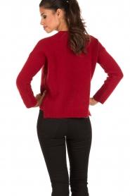 Aaiko | Gebreide trui Agata | rood  | Afbeelding 5
