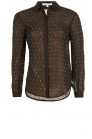 Doorschijnende blouse Simona | zwart