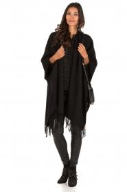Patrizia Pepe | Doorschijnende blouse Simona | zwart  | Afbeelding 3