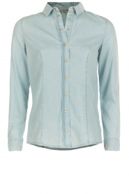 Patrizia Pepe | Spijkerblouse Camicia | Blauw  | Afbeelding 1