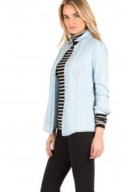 Patrizia Pepe | Spijkerblouse Camicia | Blauw  | Afbeelding 4