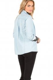 Patrizia Pepe | Spijkerblouse Camicia | Blauw  | Afbeelding 5