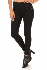 Patrizia Pepe | High-waist slim fit 5 pocket broek Gabardine | zwart  | Afbeelding 2