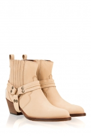 Maluo |  Leather ankle boots Mason | camel  | Picture 4