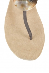 Maluo | Leren sandalen Martine | grijs  | Afbeelding 6