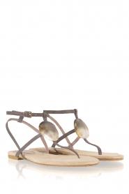 Maluo | Leren sandalen Martine | grijs  | Afbeelding 4