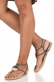 Maluo | Leren sandalen Martine | grijs  | Afbeelding 2