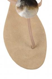 Maluo | Leren sandalen Martine | nude  | Afbeelding 6