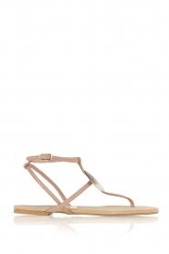 Maluo | Leren sandalen Martine | nude  | Afbeelding 1