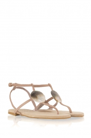Maluo | Leren sandalen Martine | nude  | Afbeelding 4