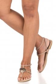 Maluo | Leren sandalen Martine | nude  | Afbeelding 2